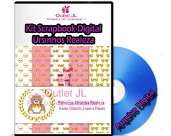 Ultra Pack Scrapbook Digital - Ursinhos Realeza