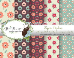 Papel Digital Floral papers (Florais)
