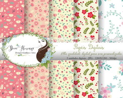 Papel Digital Floral papers 2