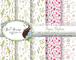 Papel Digital Floral papers 3