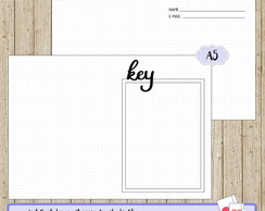 Kit Digital - Insert Planner A5 Bullet Journal Dados e Key