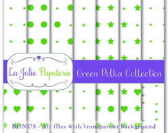 Green Polka Collection - Papel Digital
