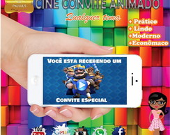 Convite Cine Digital- Clash Royale