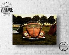 Placa Decorativa VW FUSCA Vintage