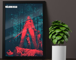 Quadro Poster com Moldura E Vidro A3, The Walking Dead, mod2