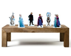 kit 6 displays totens festa de mesa Frozen