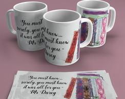 ... Caneca em Cerâmica - Jane Austen