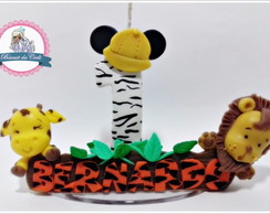 Vela Safari Mickey com nome