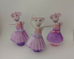 Tubetes decorados - Angelina Ballerina