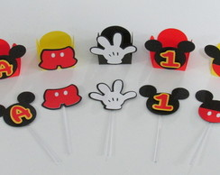 Kit Mickey - 50 forminhas e 50 Toppers