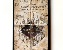 Quadro Harry Potter O Mapa do Maroto
