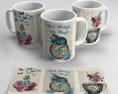 Caneca Alice in Wonderland