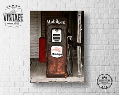 Placa Decorativa Bomba Gasolina Vintage