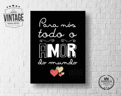 Placa Decorativa Frase Amor