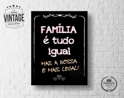 Placa Decorativa Frase Familia