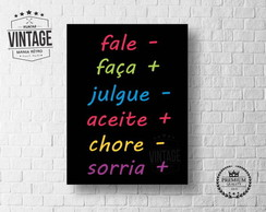 Placa Decorativa Frase