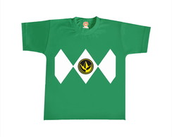 Camiseta Infantil ou Body Power Ranger Verde