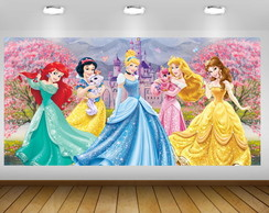 PAINÉL PRINCESAS DISNEY ROSA 2X1M - ARQUIVO DIGITAL