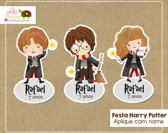 Aplique para tubete Festa Harry Potter