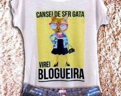 d4188c2e6b Camiseta Feminina Amarela Bateria Preta e Branca no Elo7