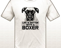 0654b836cd912 ... Camiseta Estampada Life is Better With a Boxer