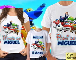 KIT CAMISETA PERSONALIZADA SUPER WINGS C/4