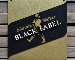 Placa Alto Relevo Black Label Jhonnie Walker 44cm