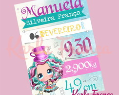 Arte Digital - Quadro Nascimento tema Ever After High