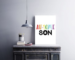 "Placa decorativa MDF ""Au-Some Son"""