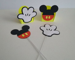 Topper + Forminha para doces Mickey