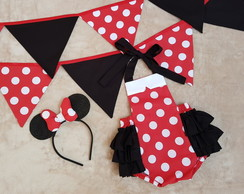 "Kit ""Smash the Cake"" - Minnie Mouse Vermelha"