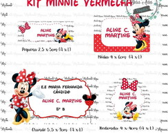 Kit Etiqueta Escolar Minnie 60 unidades – Cód.: 015
