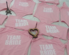 Kit com 20 Bodys personalizado Team Bride Squad