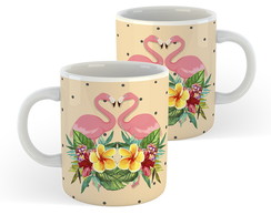 Caneca Flamingo (Tropical) - Presentes Criativos