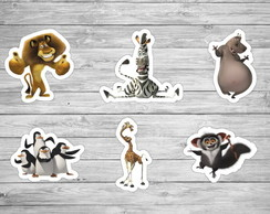 150 Apliques Madagascar 3,5 cm Tags Toppers