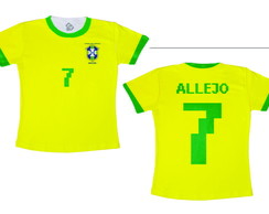 Camiseta Copa do Mundo Brasil Allejo Super Star Soccer