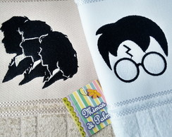 Duo de Lavabos Harry Potter bordados