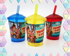 Mini Copo Shake 300ml Jake e os piratas
