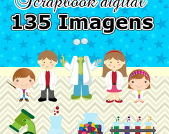 Scrapbook Digital Cientista - Kit completo