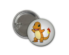 Botton Pokemon Charmander - 2,5cm