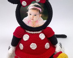 Porta retrato minnie amigurumi