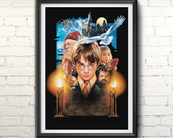 Quadro Poster Harry Potter and the Sorcerers Stone