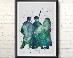 Quadro Harry Potter Whater Color
