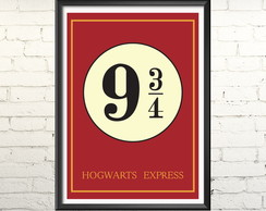 Quadro Harry Potter Plataforma 9 3/4