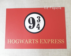 Placa Hogwarts Harry Potter