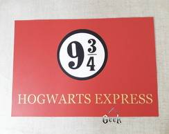 Placa Hogwarts Express Harry Potter