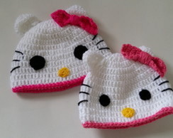 Touca / Gorro Hello Kitty New born