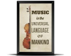 Quadro Poster Music is the universal language- VD033