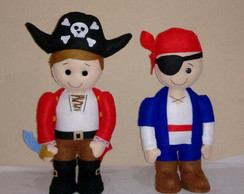 Bonecos Decorativos - Piratas