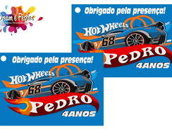 Tag de agradecimento Hot Wheels